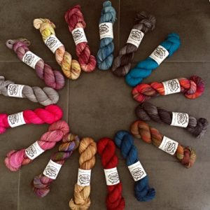 hand dyed merino sweater yarn