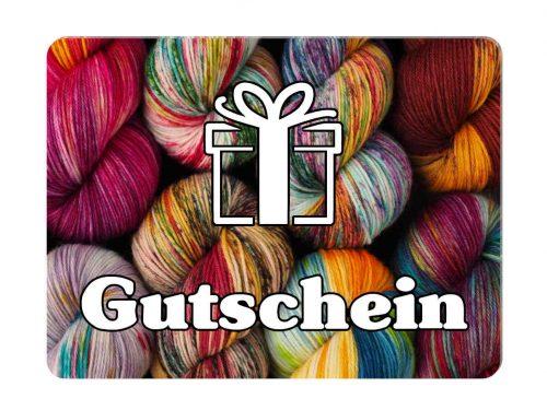 GeschenkGutschein handgefärbte Wolle
