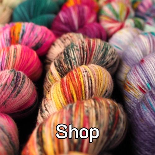 Shop handgefärbte Wolle