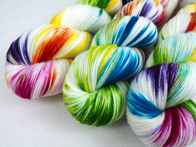 SplashedRainbow Luxus Hightwist Merino