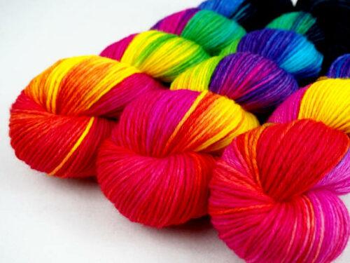RainbowByNight DK-Sport handgefärbt Aran hand dyed